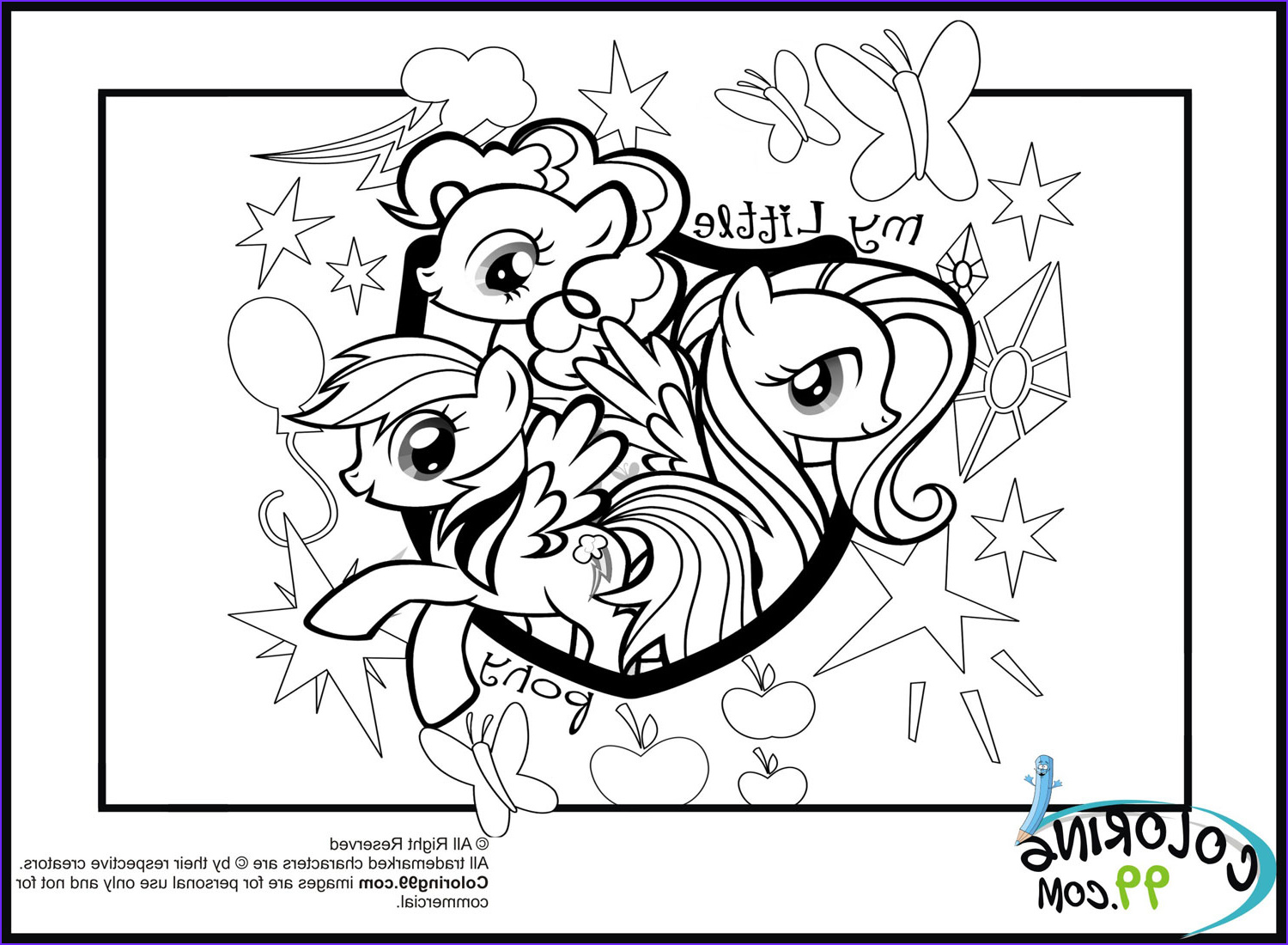 Ponies Coloring Beautiful Photos My Little Pony Coloring Pages