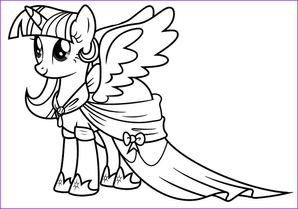 Ponies Coloring Elegant Gallery Twilight Sparkle Coloring Pages to and Print for Free