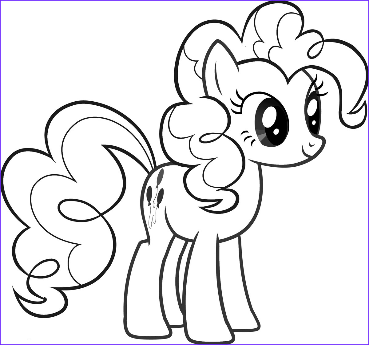 Ponies Coloring Luxury Images Pinkie Pie Pony Coloring Pages for Girls to Print for Free