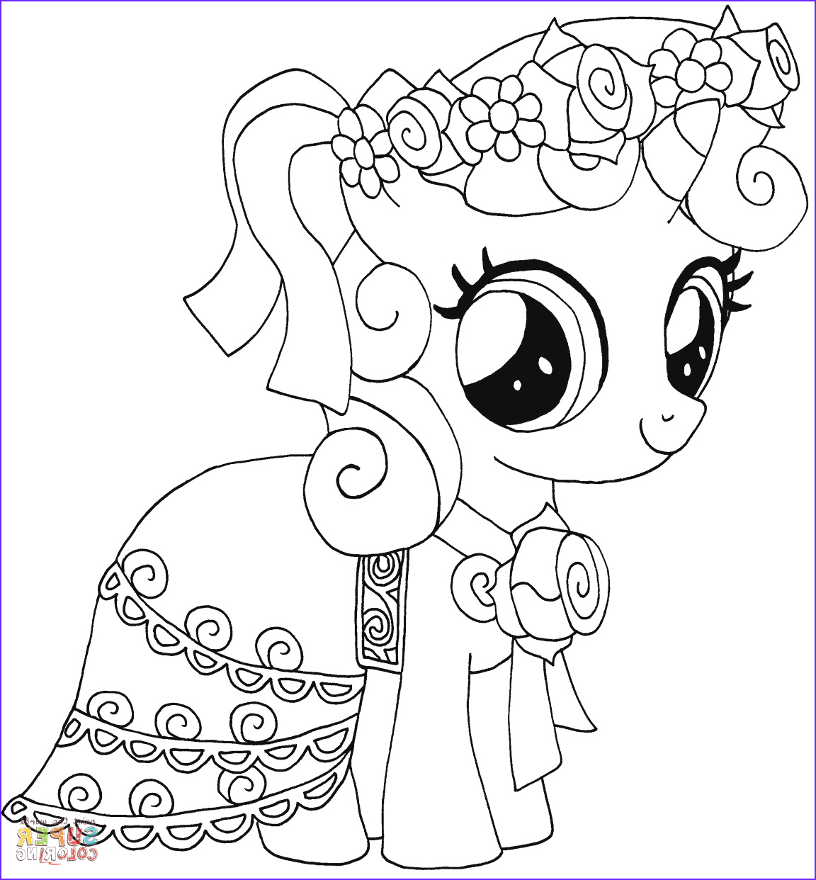 Pony Coloring Beautiful Collection My Little Pony Sweetie Belle Coloring Page