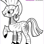 Pony Coloring Cool Image Zecora Coloring Pages