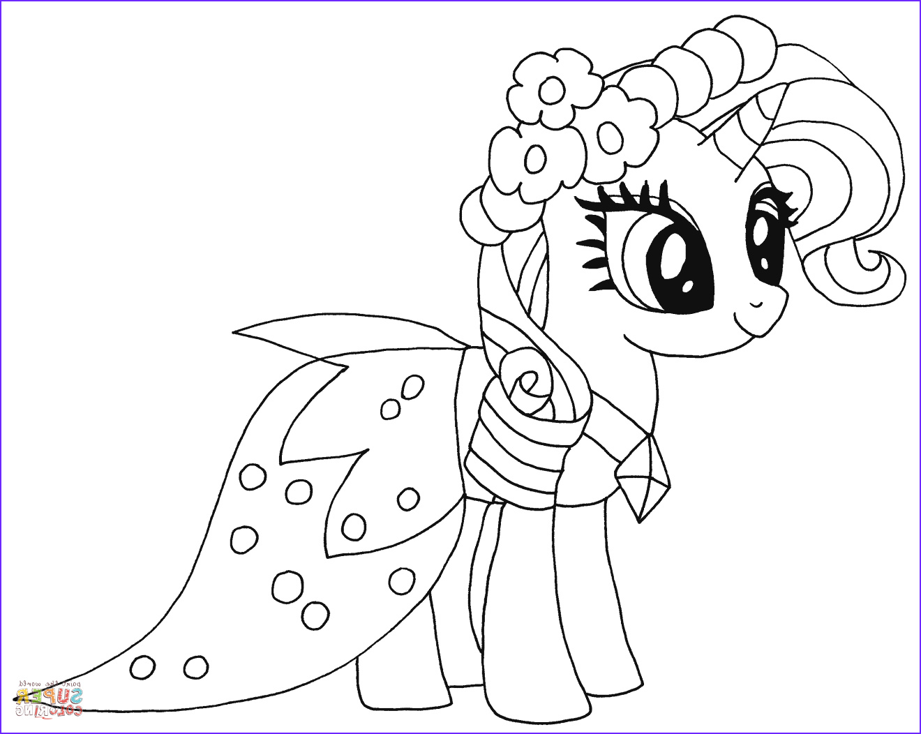 Pony Coloring Unique Collection Princess Rarity From My Little Pony Coloring Page My