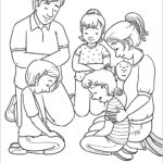 Prayer Coloring Pages Elegant Images Family Prayer