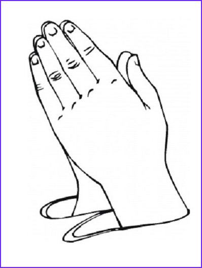 Praying Hands Coloring Page Best Of Photos Pictures Of Praying Hands for Preschool