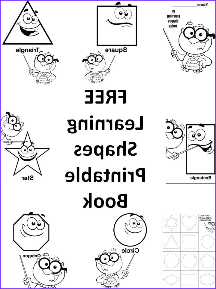 Preschool Coloring Activity Beautiful Stock Free Learning Shapes Printable Preschool Book