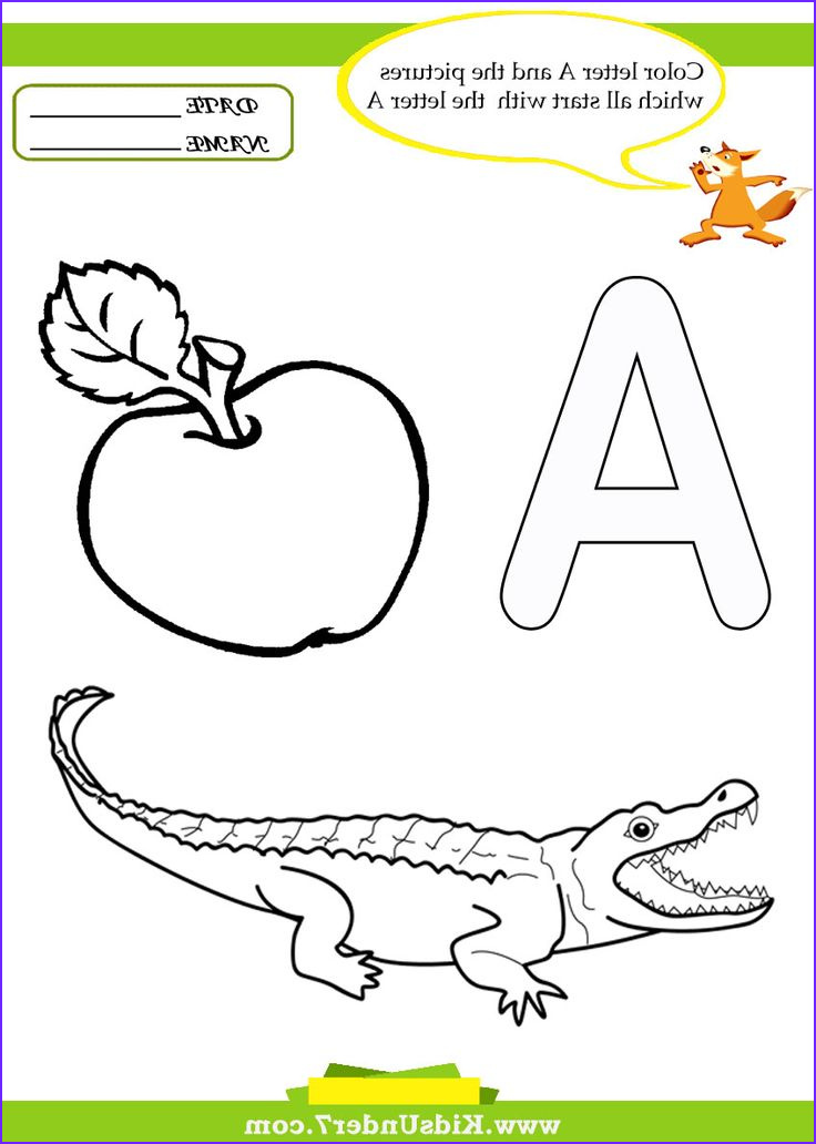 Preschool Coloring Activity Unique Collection Kids Under 7 Letter A Worksheets and Coloring Pages
