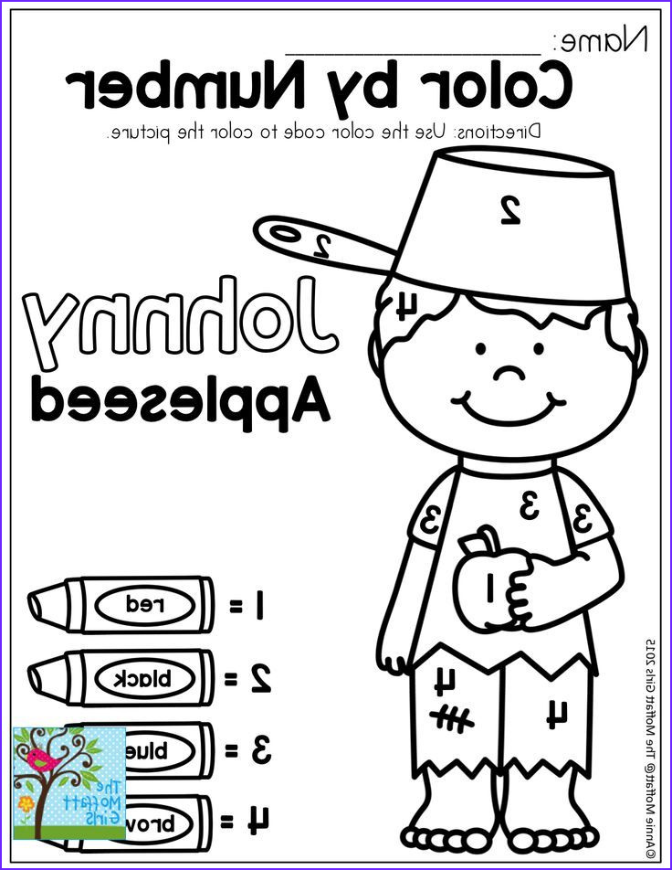 Preschool Fall Coloring Pages Awesome Photography Johnny Appleseed Color by Number Coloring Pages