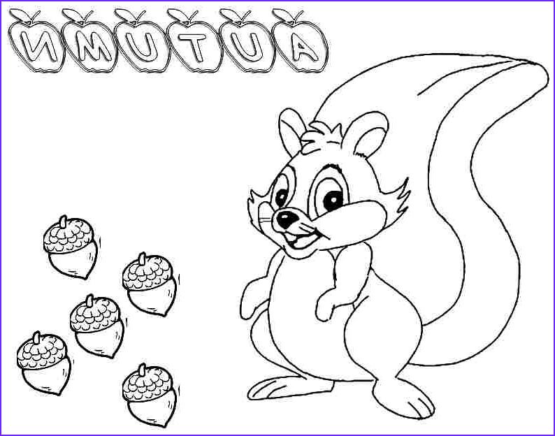 autumn coloring pages for preschool