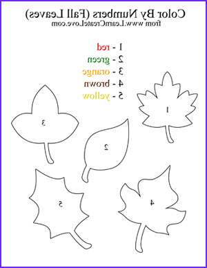 Preschool Fall Coloring Pages Beautiful Photos Color by Numbers Fall Printable Activity