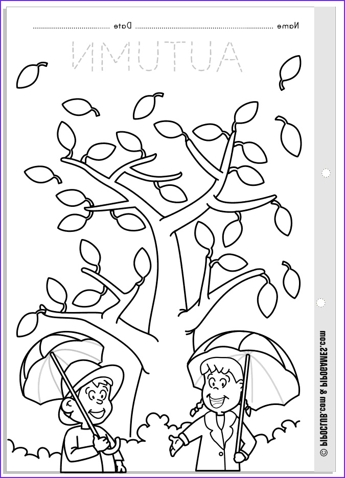 Preschool Fall Coloring Pages Luxury Photos Worksheet About Autumn for Kids From Pipo S Blog Coloring