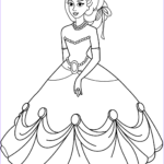 Princess Coloring Pages Printable Awesome Photos Princess In Ball Gown Dress Coloring Page