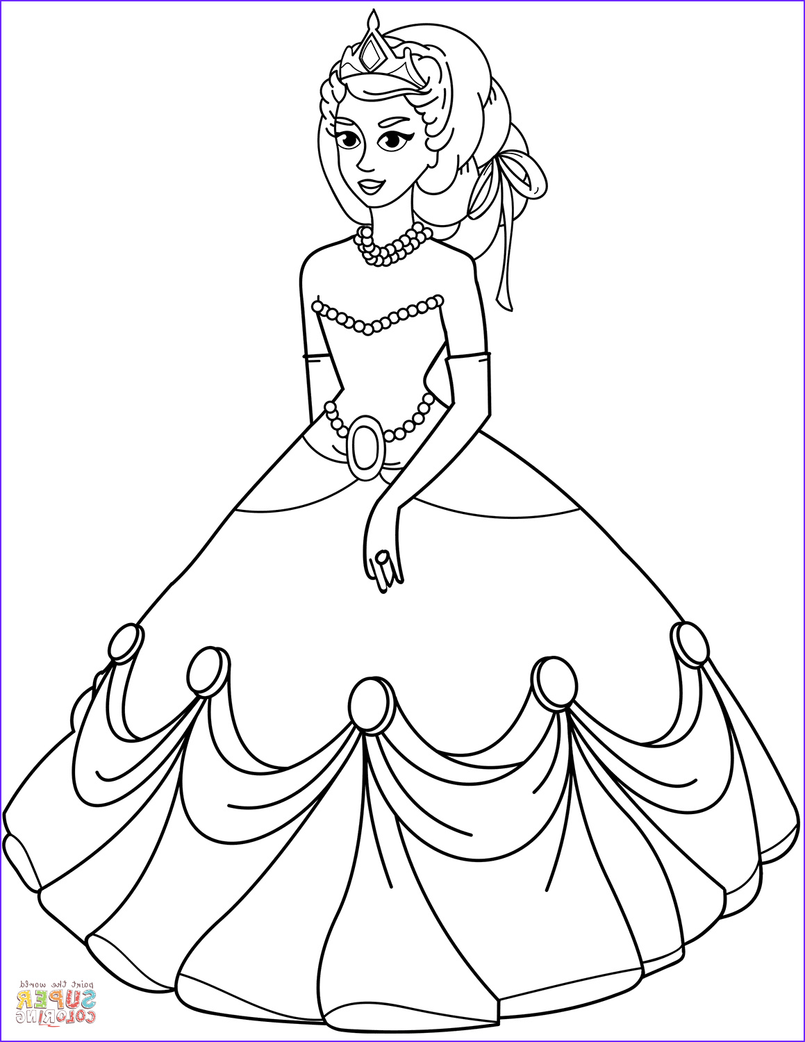 princess in ball gown dress