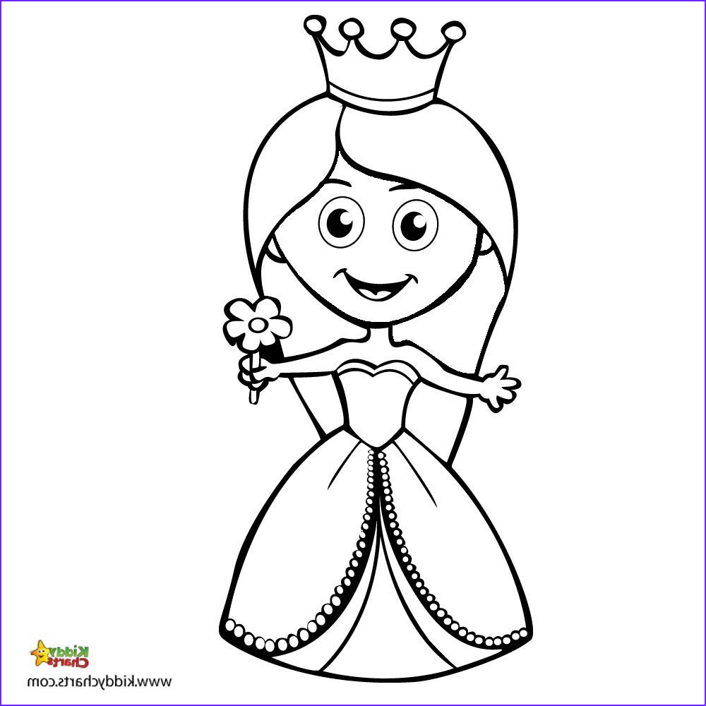 princess colouring your own little lady to colour in
