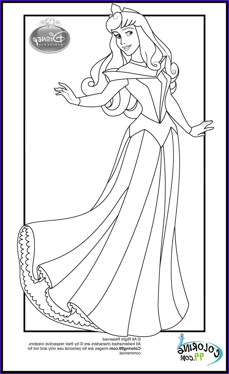 Princesses Coloring Pages Luxury Gallery Disney Princess Aurora Coloring Pages