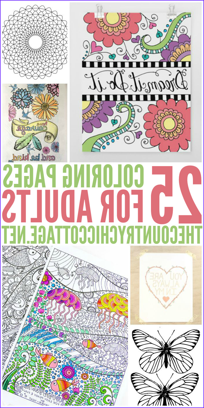 Printable Adult Coloring Books Inspirational Image 25 Free Adult Coloring Pages the Country Chic Cottage