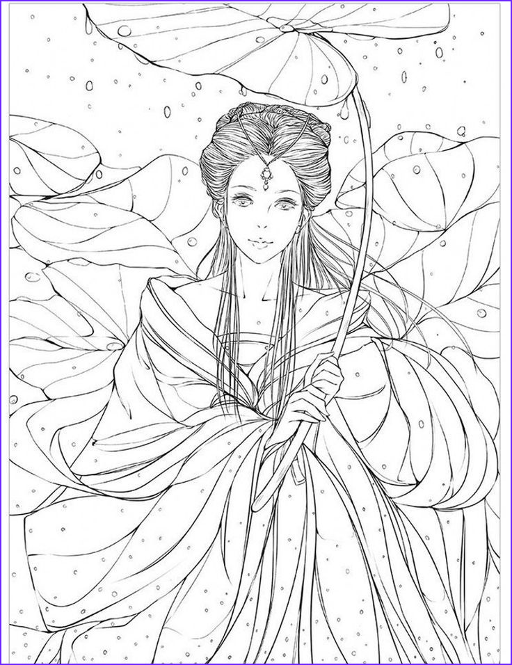 Printable Adult Coloring Books Luxury Photos Chinese Ancient Figure Line Drawing Book Cartoon Art