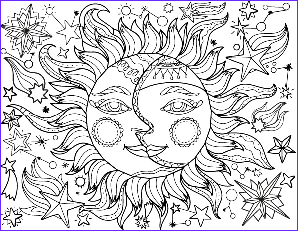 Printable Adult Coloring Pages Pdf Inspirational Photos Free Printable Sun and Moon Adult Coloring Page Download