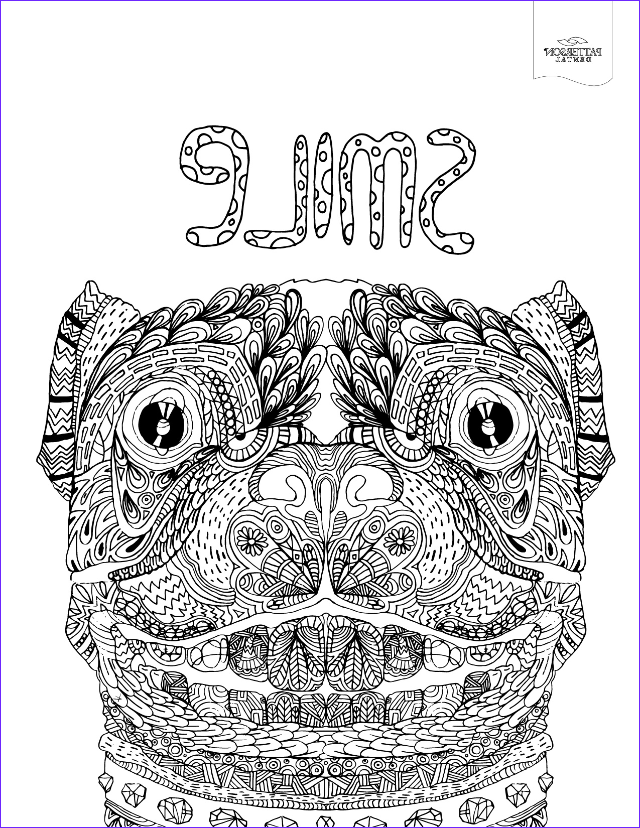 10 toothy adult coloring pages