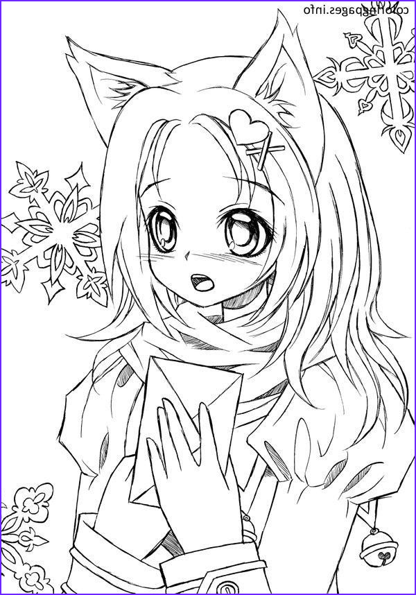 Printable Anime Coloring Pages Beautiful Photography Anime Cat Girl Coloring Pages 417 Cat Coloring Pages
