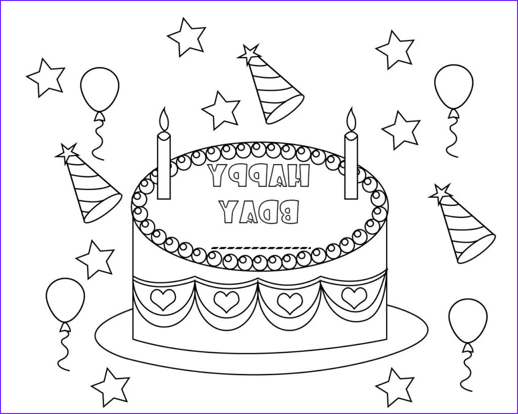 personalized happy birthday coloring pages to print
