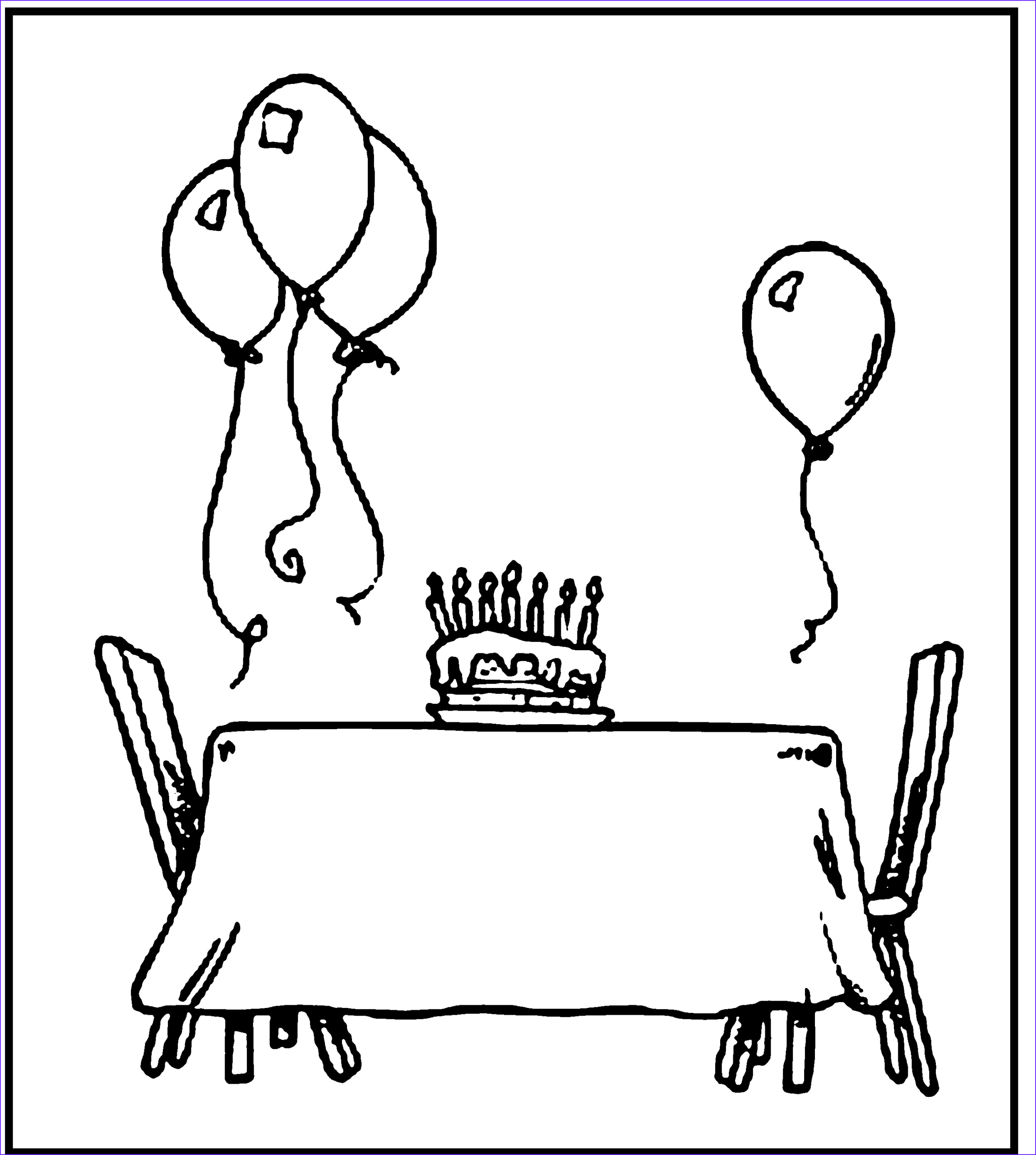 happy birthday coloring pages