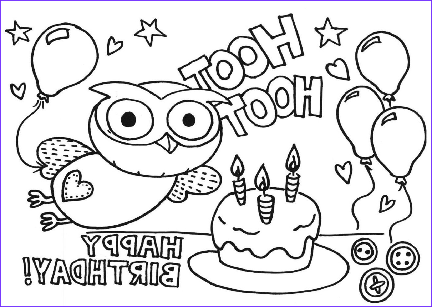 Printable Birthday Coloring Pages New Photos Happy Birthday Color Pages Kiddo Shelter