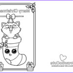 Printable Christmas Coloring Cards Beautiful Gallery Christmas Kitten Christmas Card – Draw So Cute