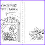 Printable Christmas Coloring Cards Elegant Collection Nativity Scene Coloring Pages Hellokids