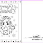 Printable Christmas Coloring Cards Unique Gallery Christmas Colouring Page 4 – Lottie Dolls