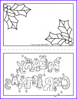 printable merry christmas card coloring page for kids