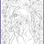 Printable Coloring Book Pages For Adults Elegant Collection De Stress With Dogs Downloadable 10 Page Coloring Book