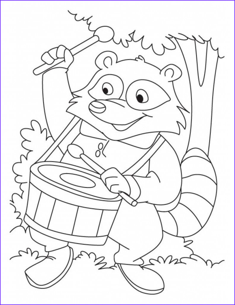 Printable Coloring Books Beautiful Photos Raccoon Coloring Pages to and Print for Free