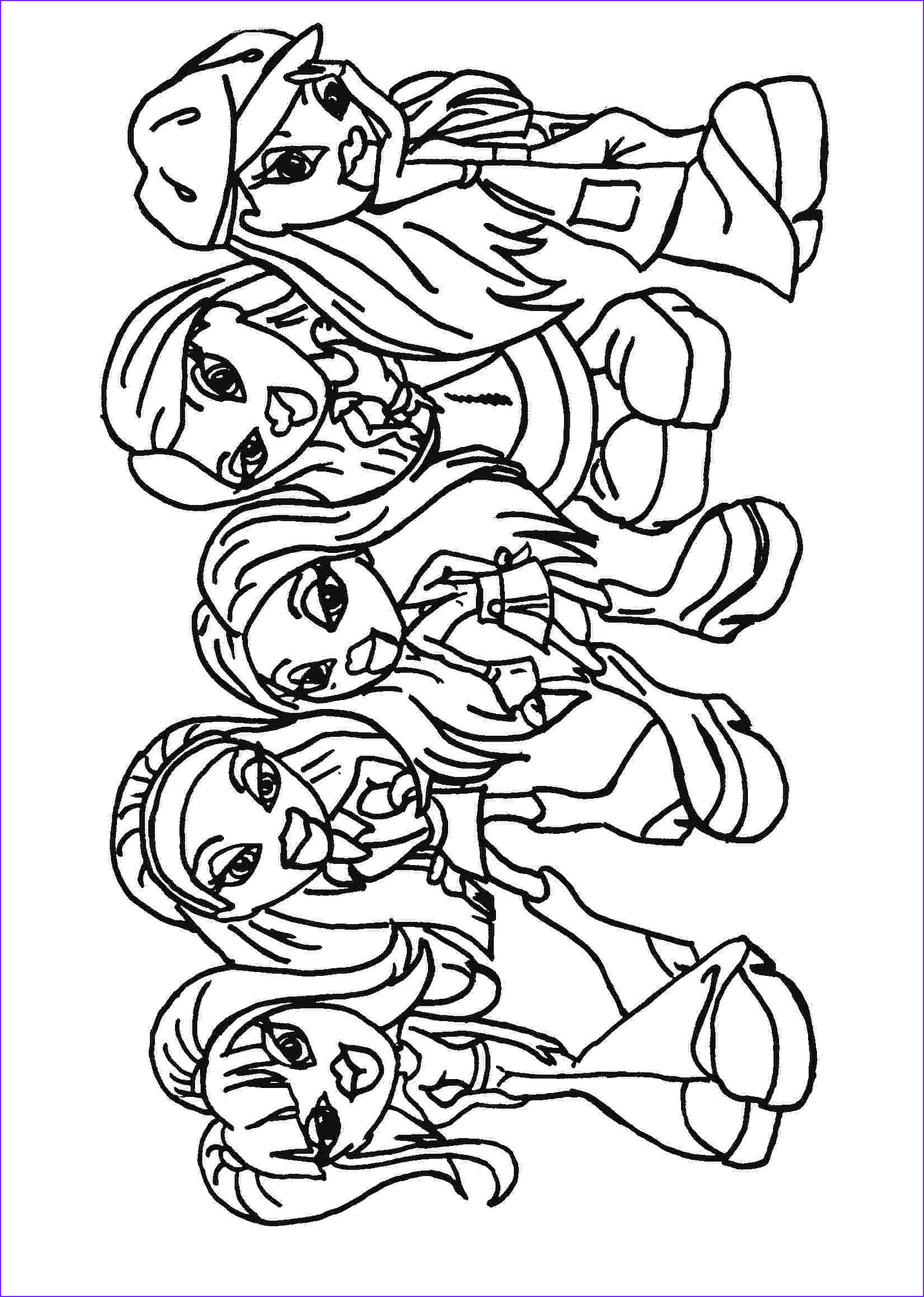 Printable Coloring Books Cool Photos Bratz Coloring Pages
