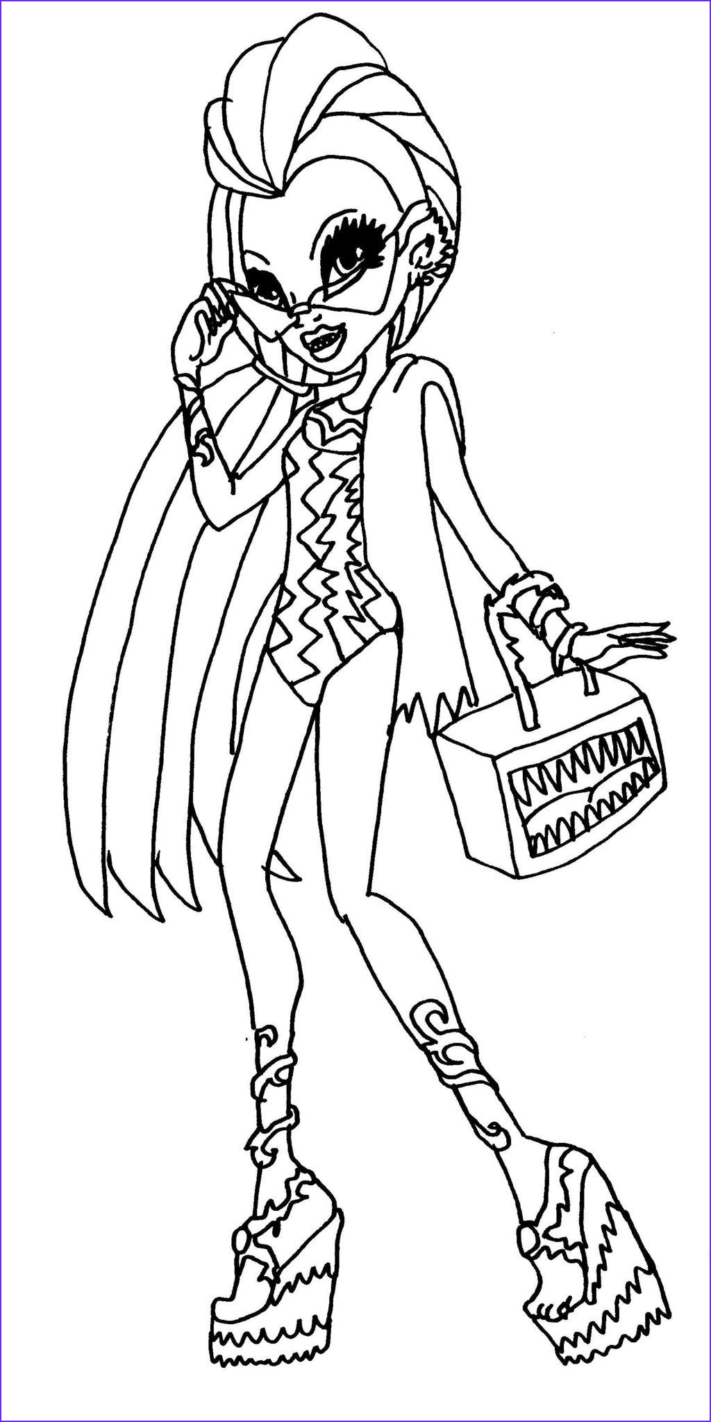 Printable Coloring Books Unique Images Monster High Monster High