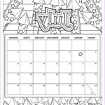 Printable Coloring Calendar 2017 Cool Collection Free Download Coloring Pages From Popular Adult Coloring