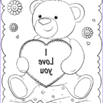 """Printable Coloring Cards Elegant Images """"i Love You"""" Card Coloring Page"""