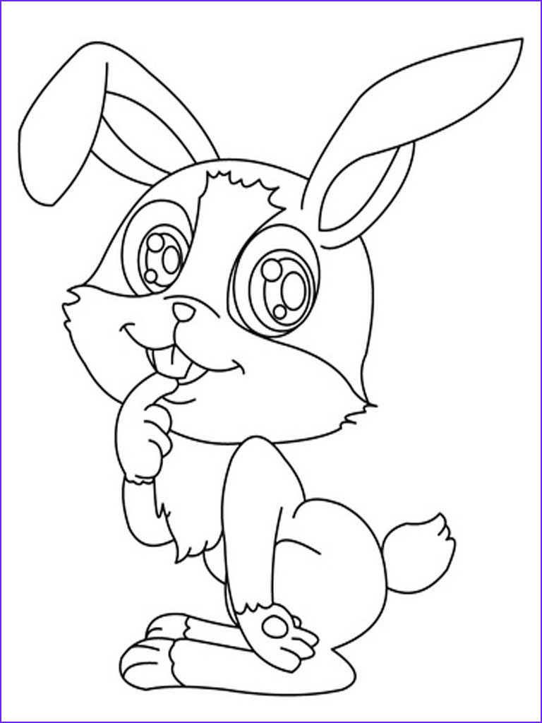 Printable Coloring Page Beautiful Collection Bunny Coloring Pages Best Coloring Pages for Kids