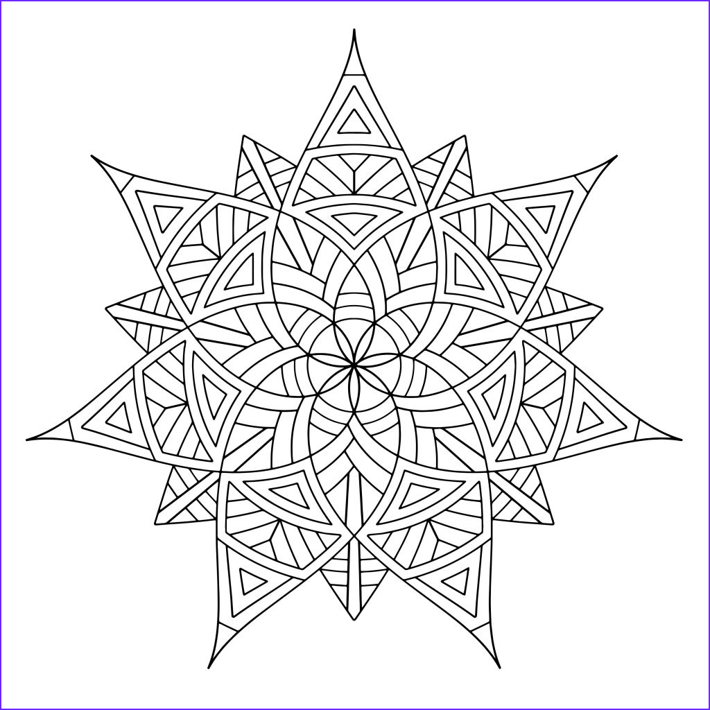 Printable Coloring Page Beautiful Photos Free Printable Geometric Coloring Pages for Kids
