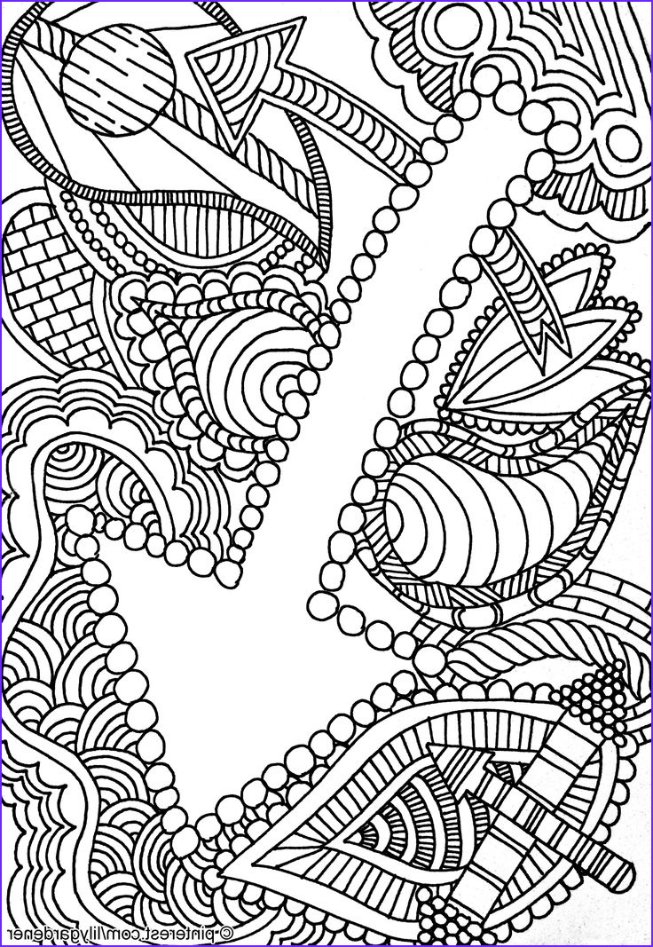 Printable Coloring Pages Adults Inspirational Stock Abstract Coloring Page for Adults High Resolution Free