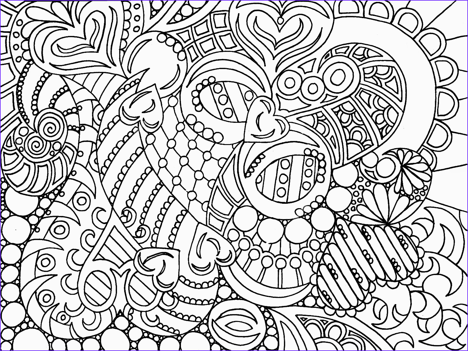 Printable Coloring Pages for Adults Abstract Awesome Images Colouring Pages On Pinterest