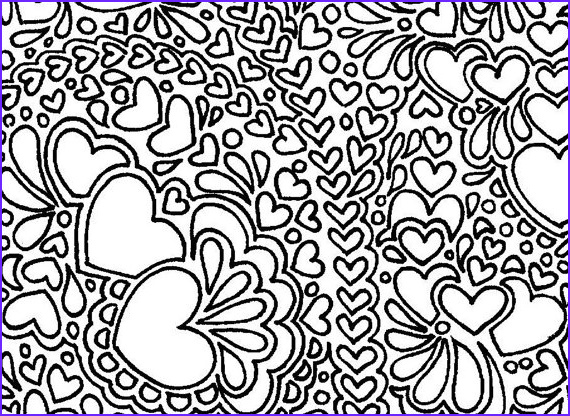 Printable Coloring Pages for Adults Abstract New Stock Abstract Hearts Printable Adult Coloring Page by