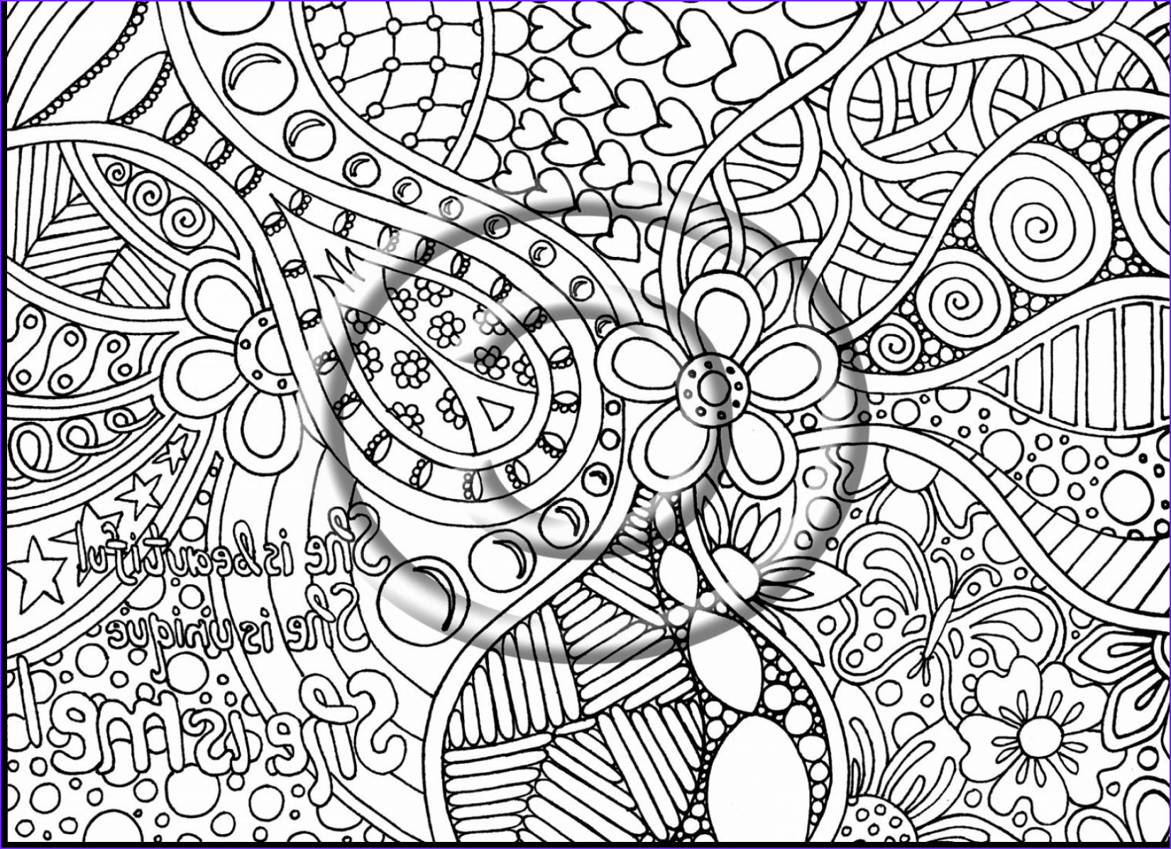 Printable Coloring Pages for Adults Abstract Unique Collection Trippy Mandala Coloring Pages Printable