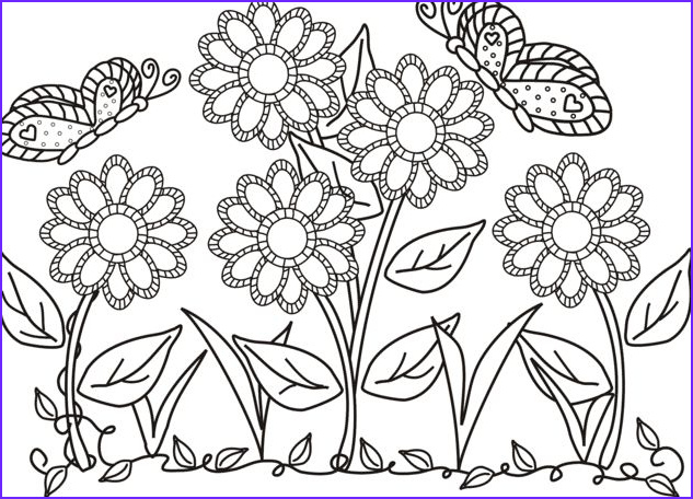 Printable Coloring Pages Of Flowers and butterflies Awesome Photography butterfly and Flower In the Garden Colouring butterfly