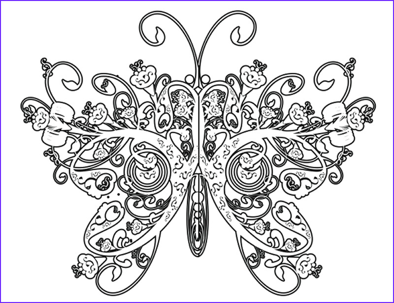Printable Coloring Pages Of Flowers and butterflies Awesome Photos Plicated Coloring Pages for Adults Free to Print