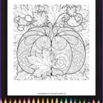 Printable Fall Coloring Pages Beautiful Images Pumpkin And Leaves Coloring Page