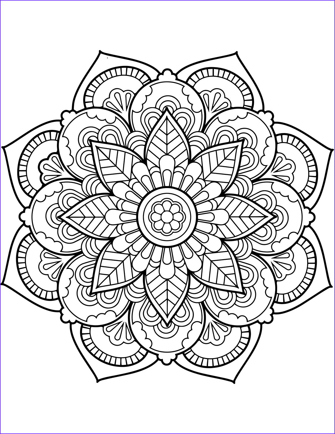 Printable Mandala Coloring Pages Beautiful Collection Flower Mandala Coloring Pages Best Coloring Pages for Kids