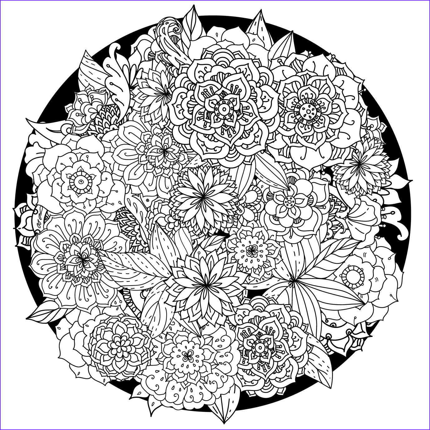 Printable Mandala Coloring Pages Luxury Gallery 63 Adult Coloring Pages to Nourish Your Mental Visual
