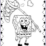 Printable Valentine Coloring Pages Cool Images Spongebob Coloring Pages For Valentine S Day