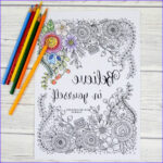 Printables Free Coloring Pages Beautiful Gallery Believe In Yourself Adult Colouring Pages