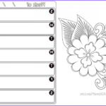 Printables Free Coloring Pages New Image Free Weekly Planner Color Page Printout Calendar